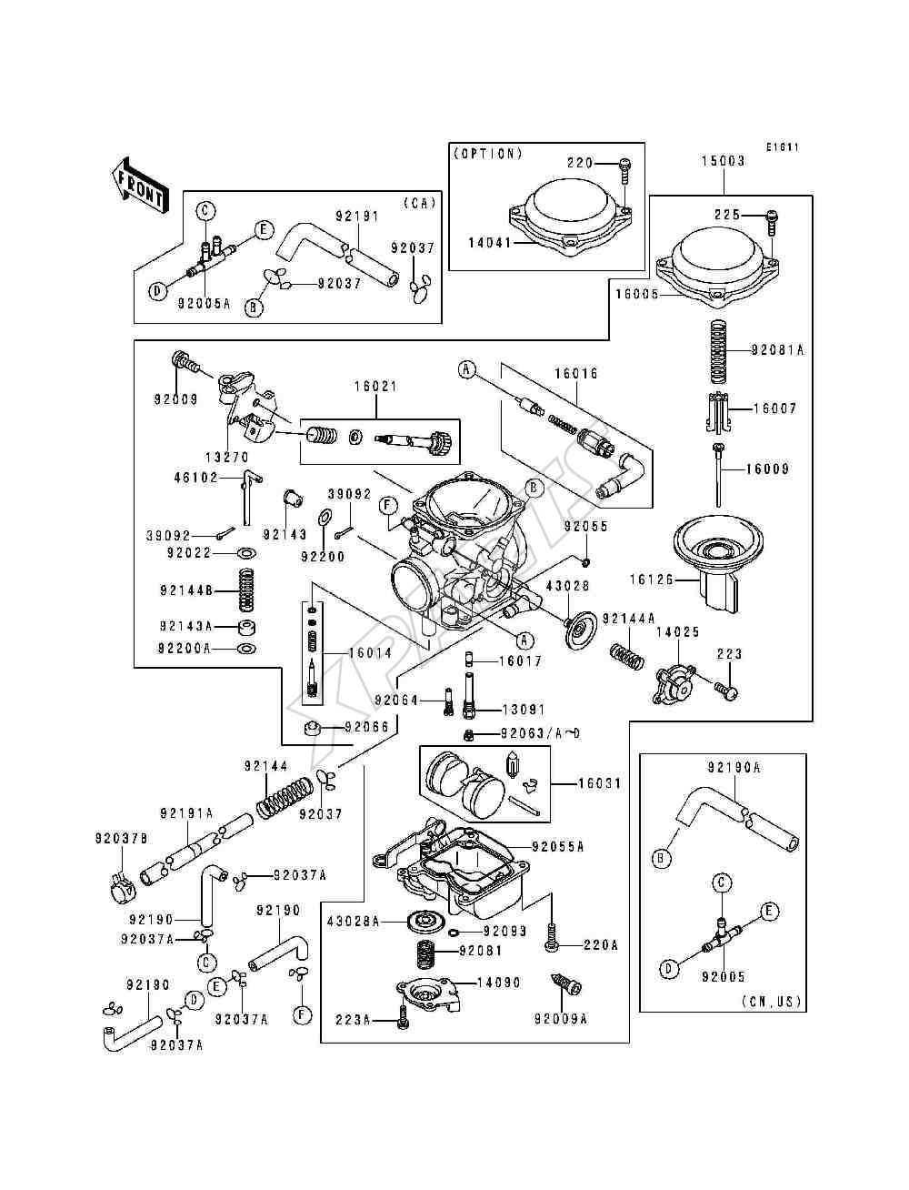 kawasaki vulcan 800 carburetor diagram