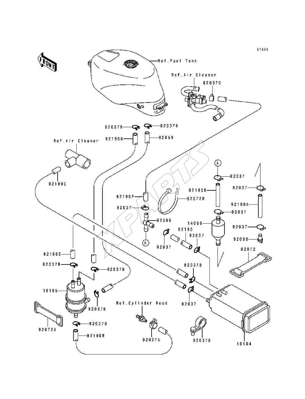 Fuel Evaporative System on 1996 yamaha wiring diagram