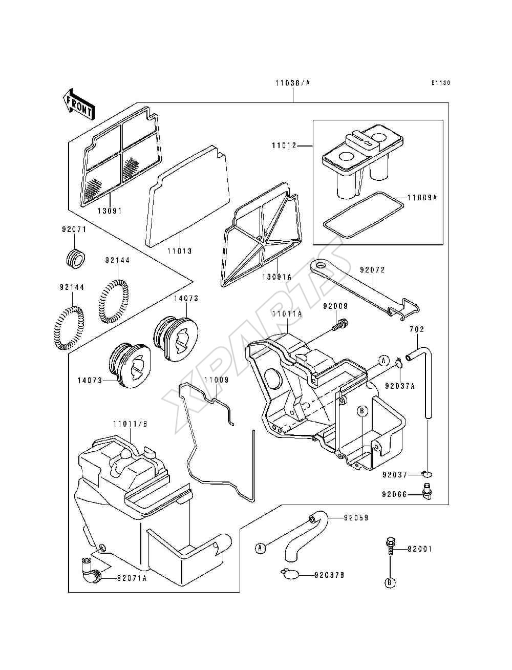 1993 Ninja 250r Ex250 F7 Wiring Diagram Picture For Category Air Cleaner