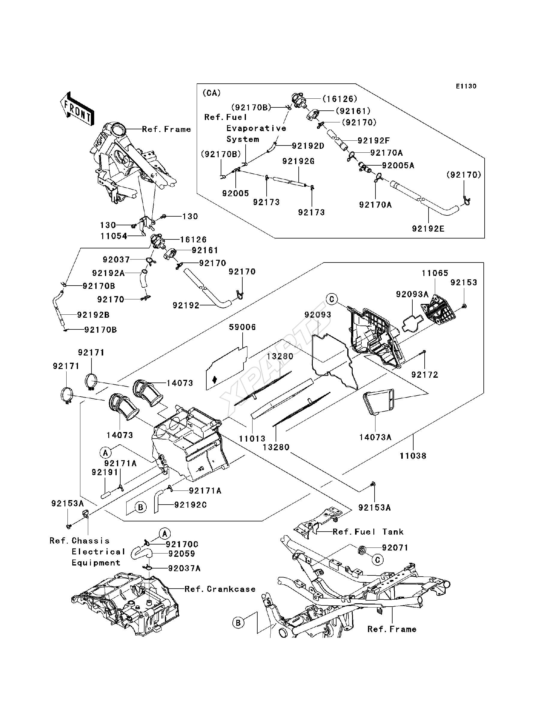 2010 Ninja 250r Ex250 Jafa Engine Diagram 1985 900 Bild Fr Kategorie Air Cleaner