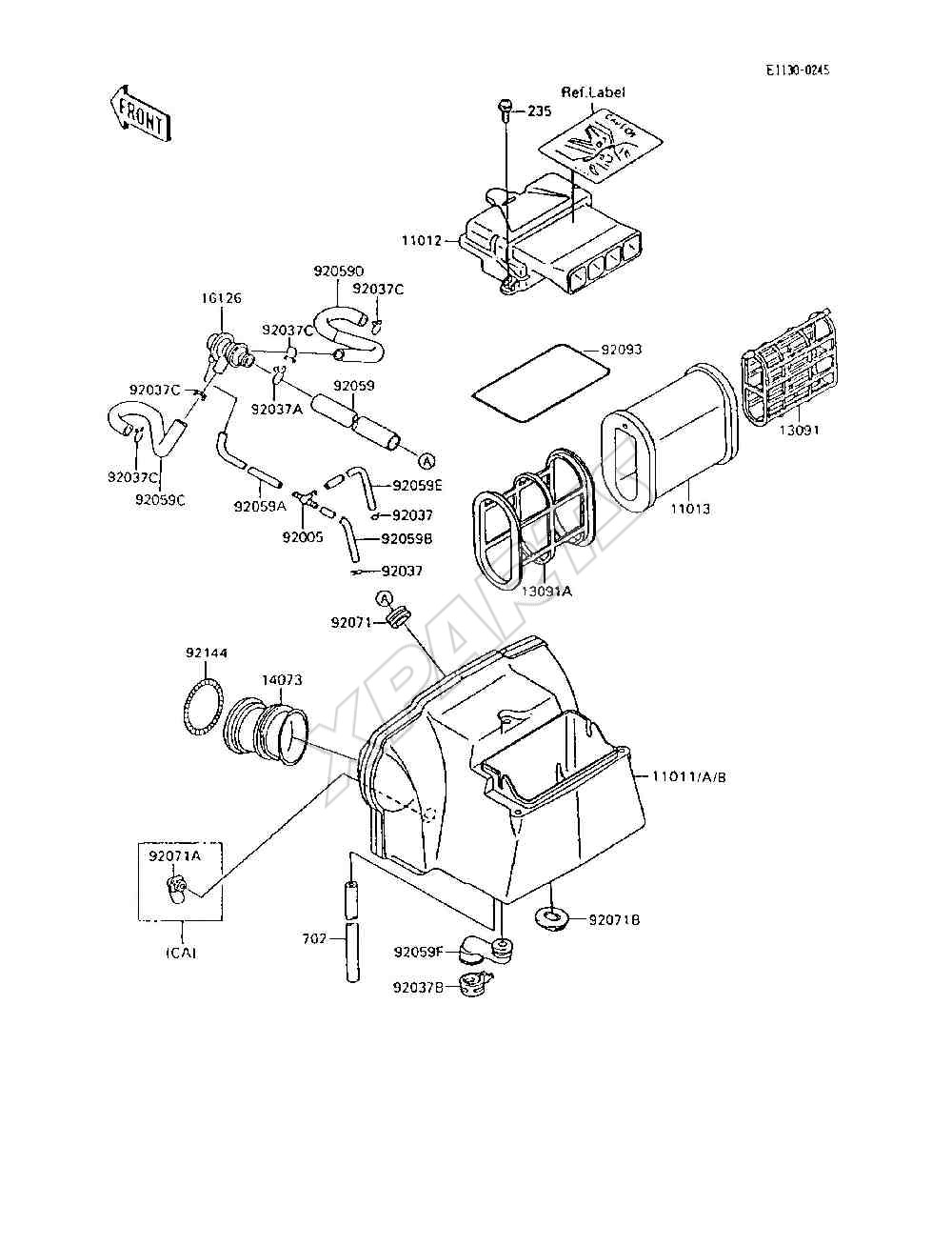 1995 Ninja 600r Zx600 C8 Engine Diagram 1985 900 Picture For Category Air Cleaner