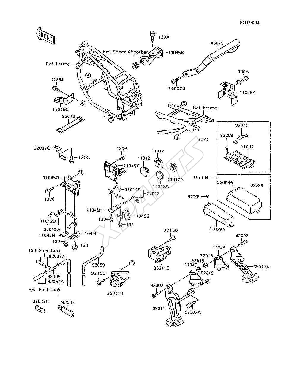 1995 Ninja 600r Zx600 C8 Engine Diagram 1985 900 Picture For Category Battery Case