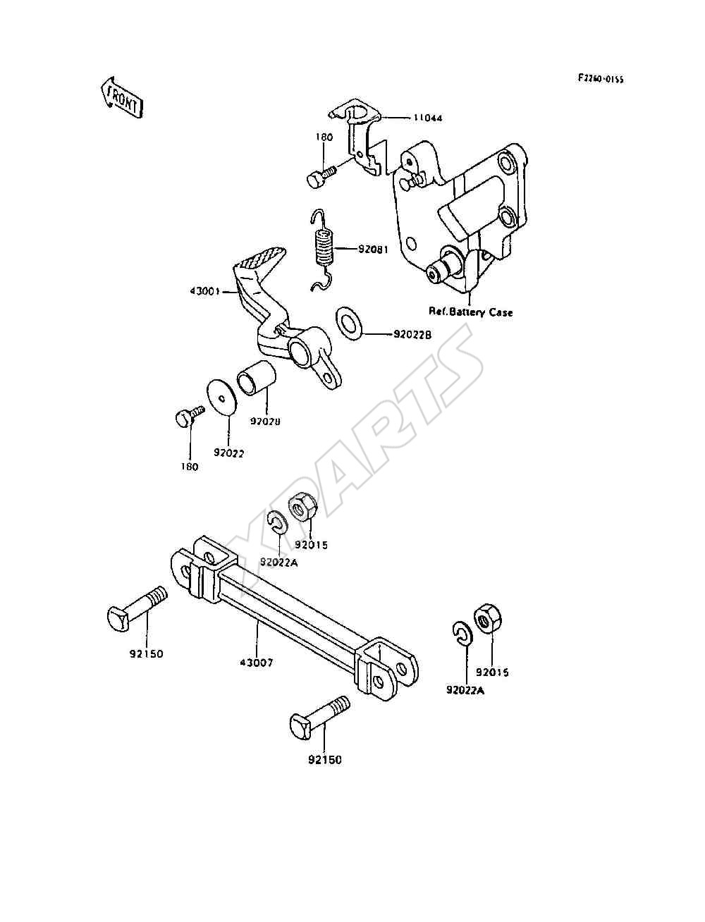 1995 Ninja 600r Zx600 C8 Engine Diagram 1985 900 Picture For Category Brake Pedal Torque Link