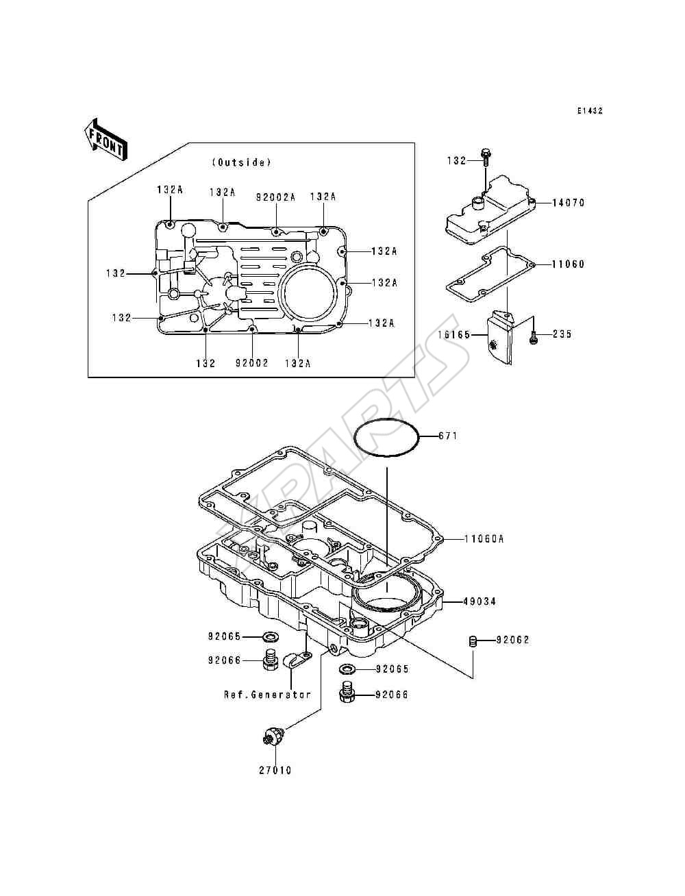 1999 Voyager Xii Zg1200 B13 Kawasaki Wiring Diagram Picture For Category Breather Cover Oil Pan