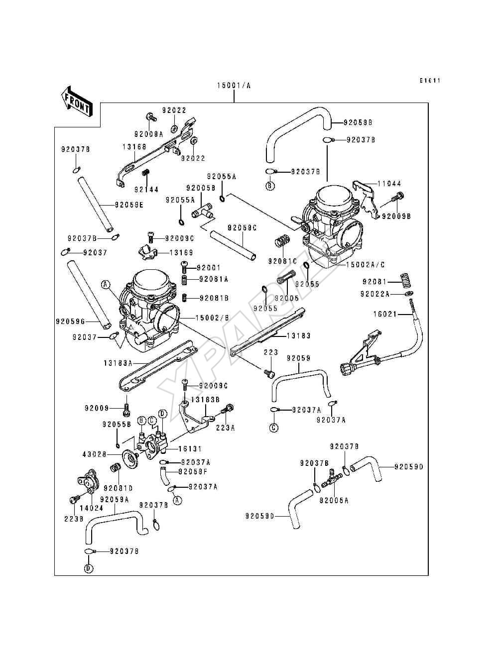 1993 Ninja 250r Ex250 F7 Wiring Diagram Picture For Category Carburetor