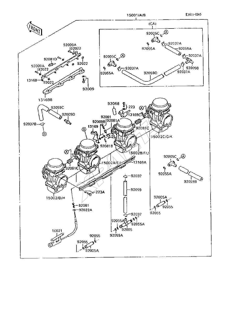 1995 Ninja 600r Zx600 C8 Engine Diagram 1985 900 Picture For Category Carburetor