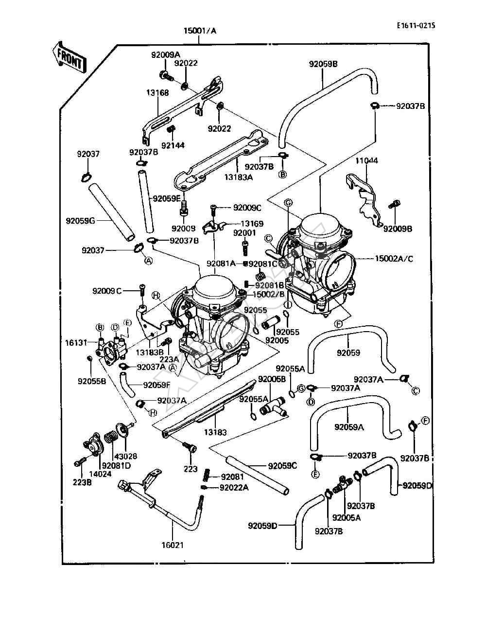 Kawasaki Ninja 250r Carburetor Diagram
