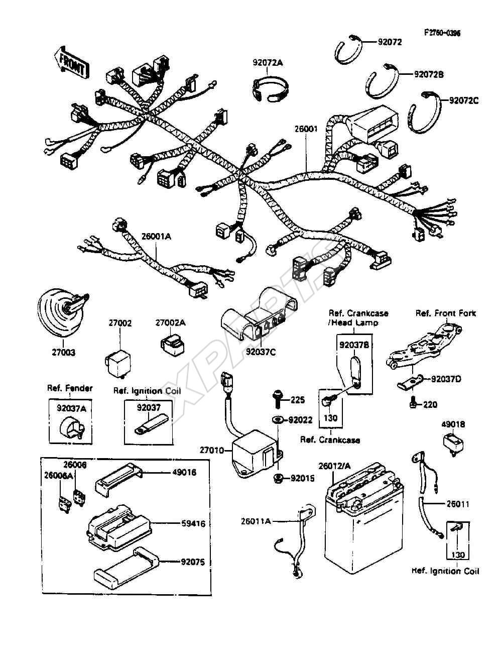 Strange 1989 Zx600 Wiring Diagram Electronic Schematics Collections Wiring 101 Cranwise Assnl