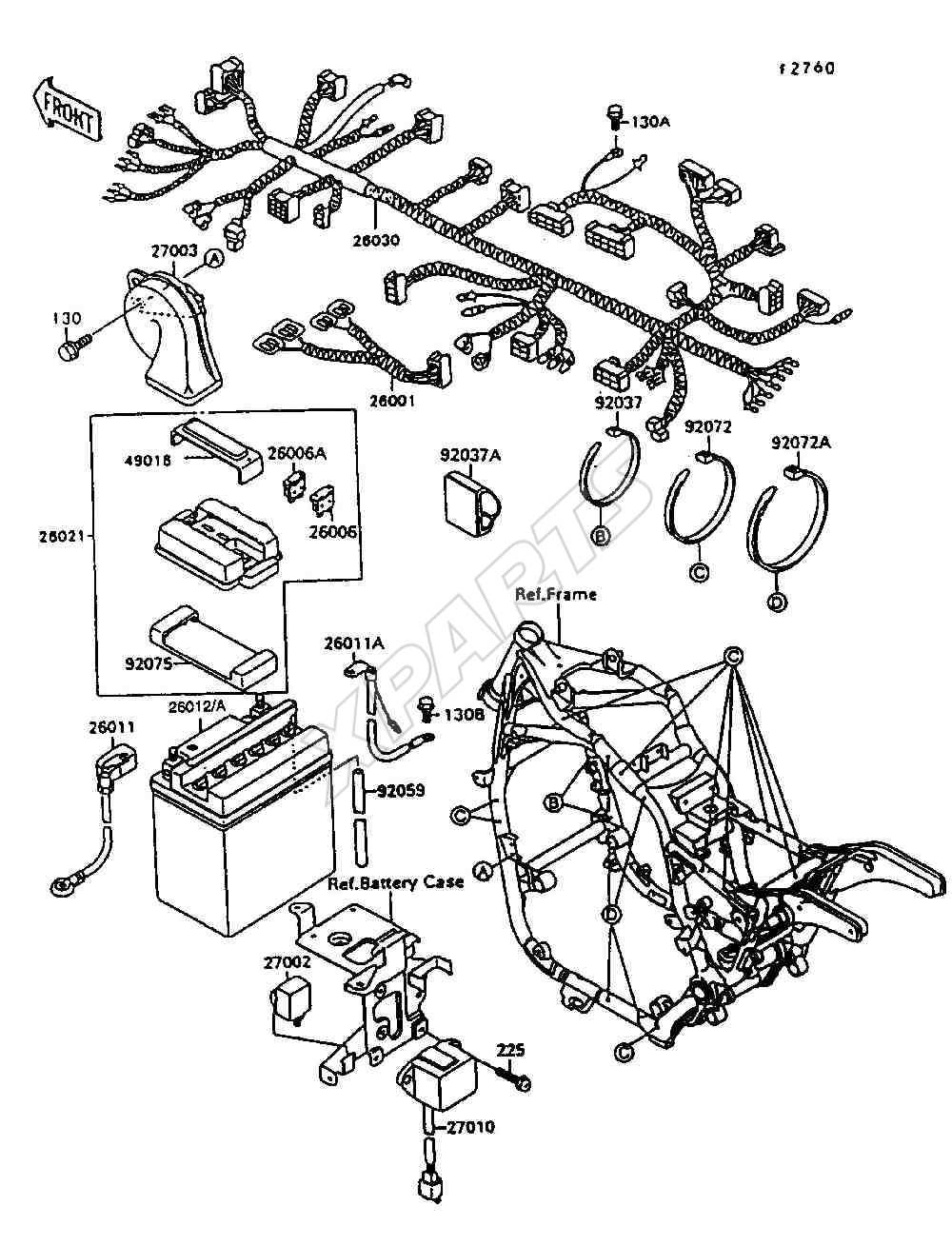 Kawasaki 1300 Wiring Diagram Explore On The Net 1986 Zl600a Schematic Voyager Xii Diagrams Z Mule