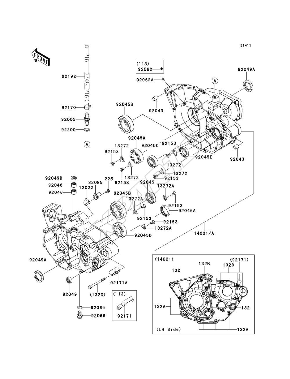 2013 KX250F KX250ZDF – Kx250f Engine Diagram