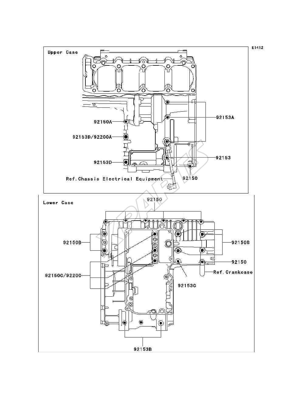 Bild für Kategorie Crankcase Bolt Pattern