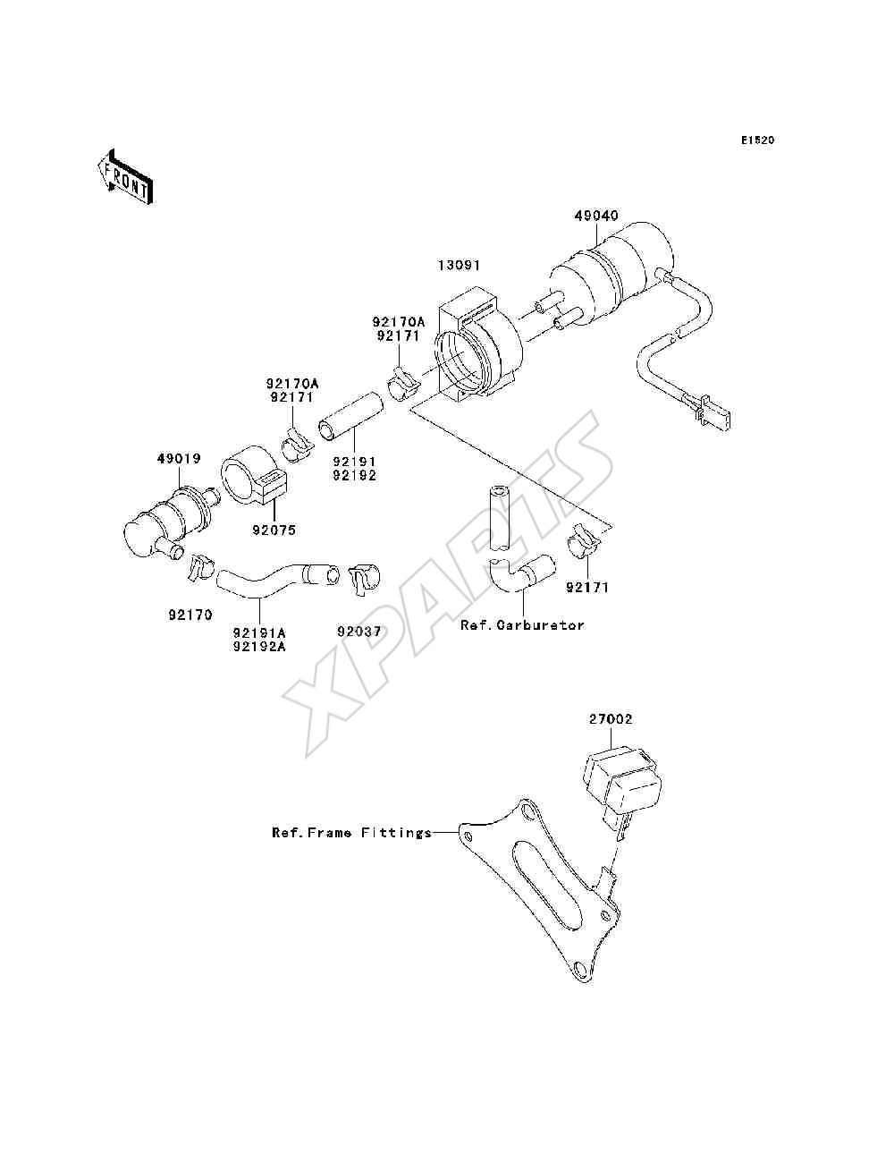 Kawasaki Zzr600 Zx600 J6f Fuel Pump 2006 Org Reservedele Fra Motorcycle Parts Kx65a6f Kx65 Engine Covers Diagram